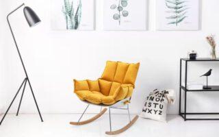 """כסא נדנדה דגם """"לימסול"""" צבע חרדל"""