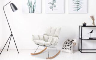"""כסא נדנדה דגם """"לימסול"""" צבע בז'"""