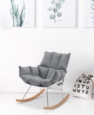 """כסא נדנדה דגם """"לימסול"""" צבע אפור"""