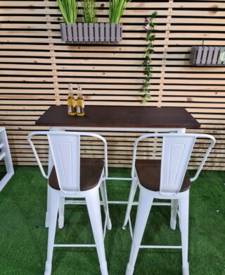 שולחן בר מישל בשילוב עץ כולל 4 כסאות