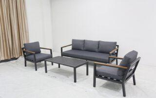 מערכת ישיבה תלת מושבי אלומניום דגם קריבים