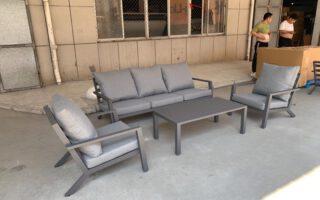 מערכת ישיבה תלת מושבי אלומניום דגם אפריל
